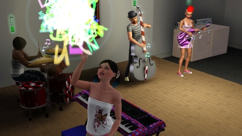 Only in the Sim world do your achievements literally turn into fireworks and explode above your head