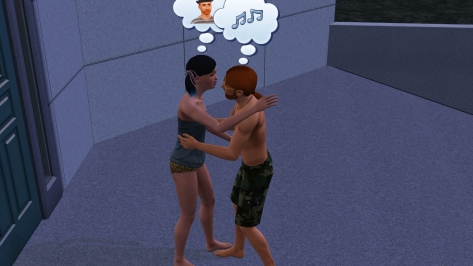 It was actually just a friendly hug, but Claudia is definitely enraptured by the love machine we all know as Pete.