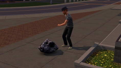 The dude found a meteor. I'm starting to think he's like a…space rainman or something.