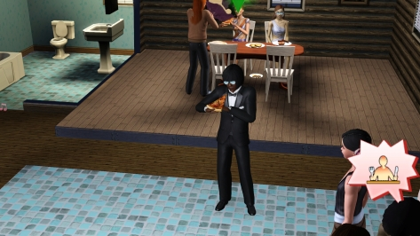 Here he is, showing off his pizza-eating swagger