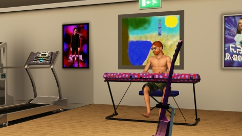 After I set it up behind Pete, he actually lost a level in his piano skills