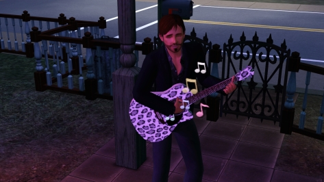 Truly, this is a sign of our fame: Joe Stranger and his Pink Leopard guitar