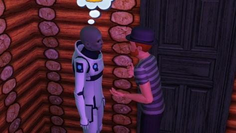 Is...is that an alien? Amateur astronomer Pete is talking to an alien?